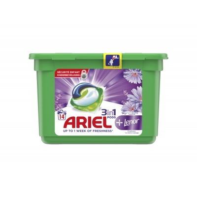 Ariel 3 in 1 pods+lenor