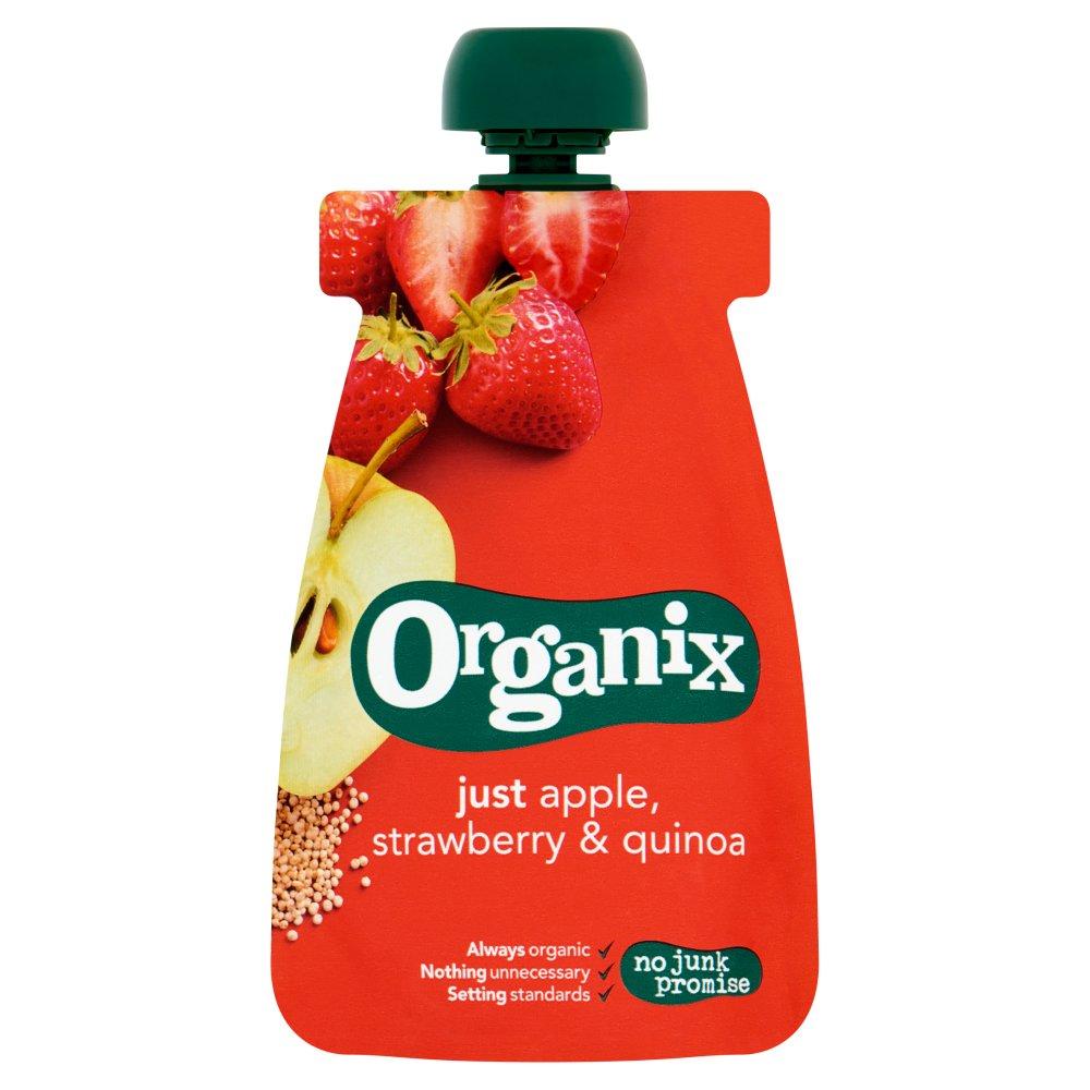 Organix Pouch met Appel, Aardbei & Quinoa 6-36 Maanden 100 g