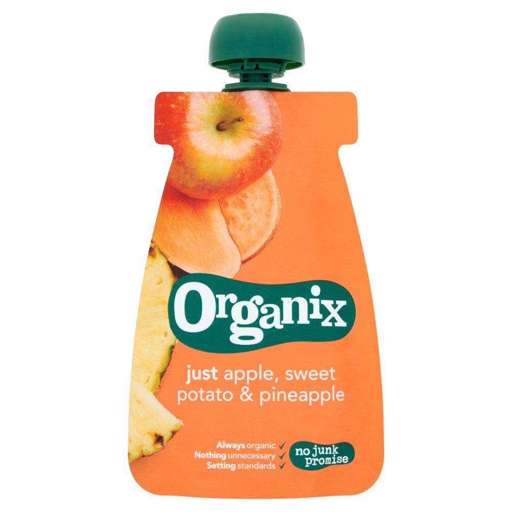 Organix Pouch met Appel, Zoete Aardappel & Ananas 6-36 Maanden 100 g