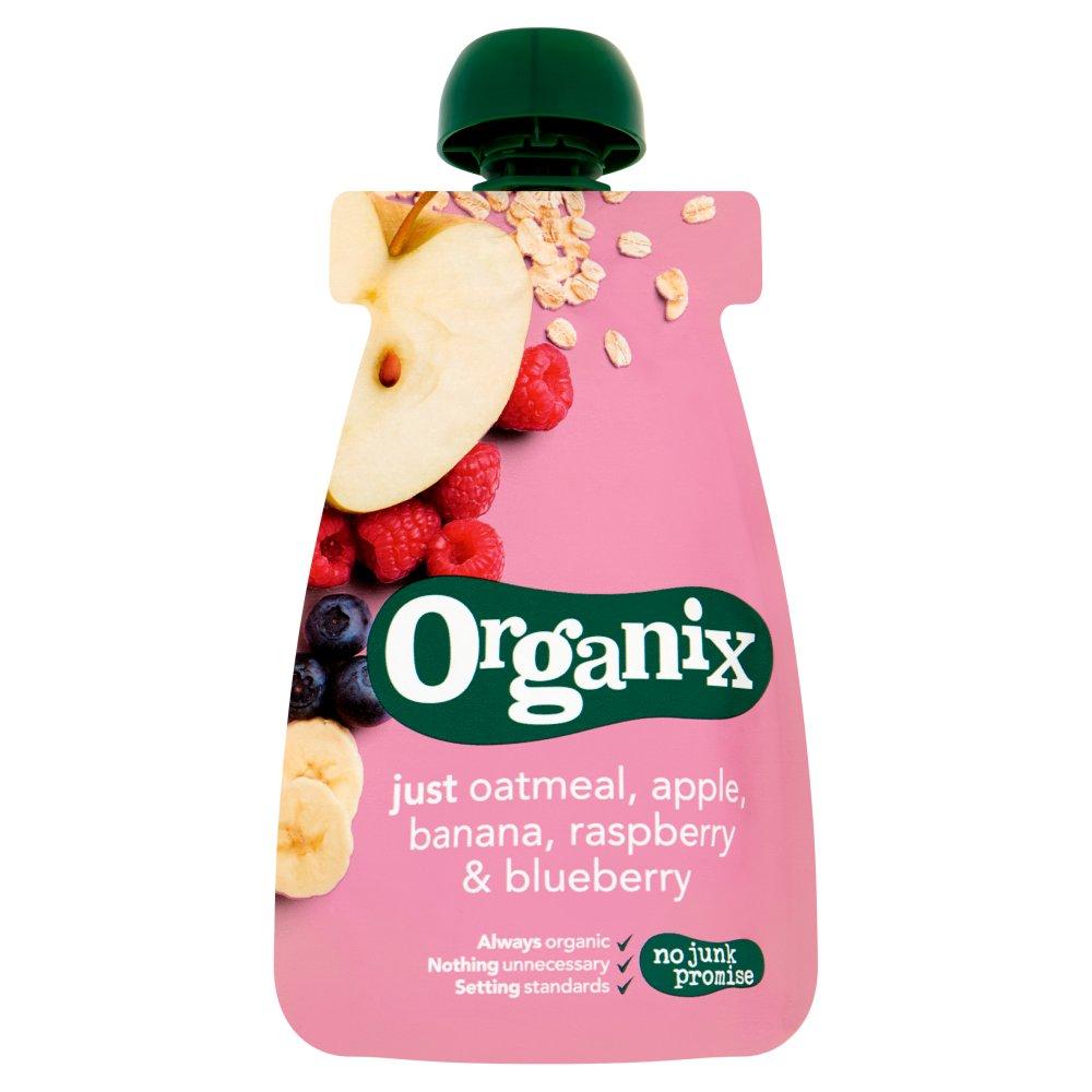 Organix Pouch met Havermout, Appel, Banaan, Aardbei & Bosbes 6-36 Maanden 100 g