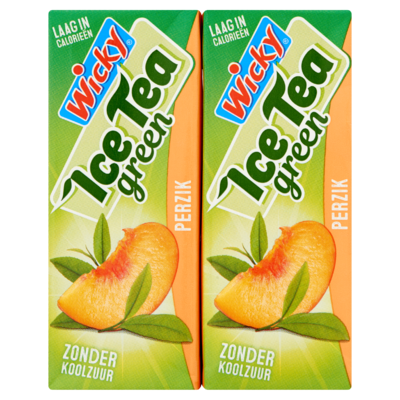 Wicky Ice Tea Green Perzik 10 x 200 ml