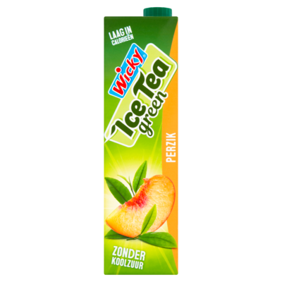 Wicky Ice Tea Green Perzik 1 L