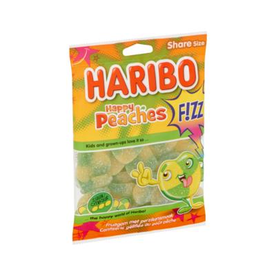Haribo Happy Peaches F!ZZ Share Size