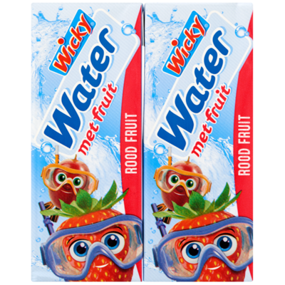 Wicky Water met rood fruit 10x20 cl