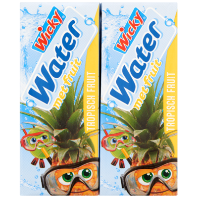 Wicky Water met fruit tropical tropical 10x20 cl