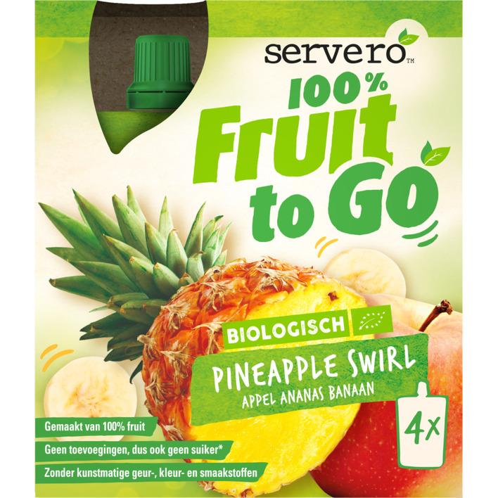 Servero 100% fruit to go pineapple swirl