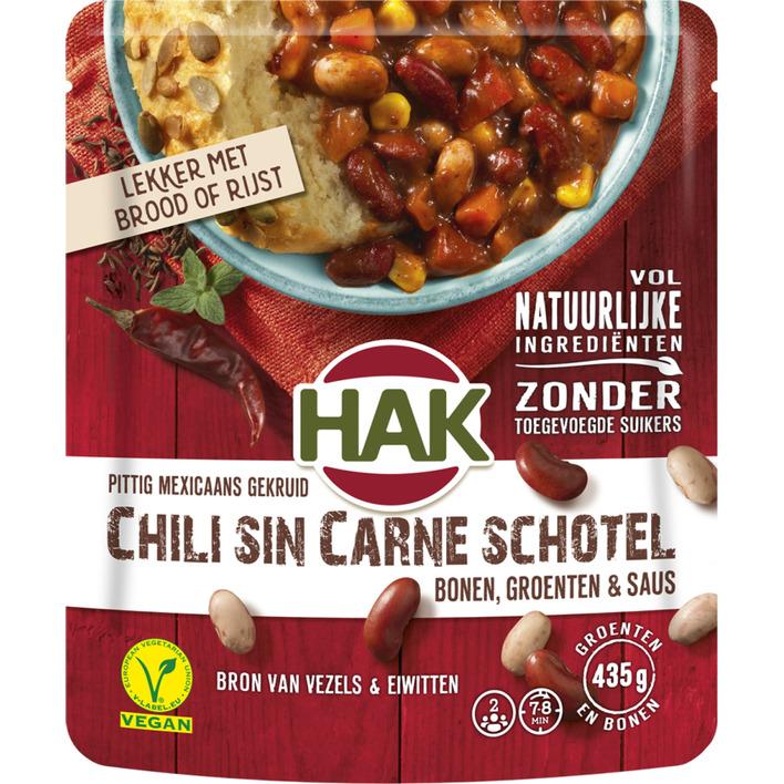 Hak Bonenschotels chili sin carne