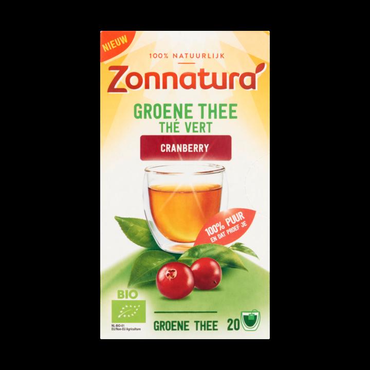 Zonnatura Groene Thee Cranberry 20 Zakjes