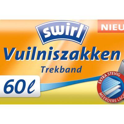 Swirl Vuilniszakken Trekband 60 L