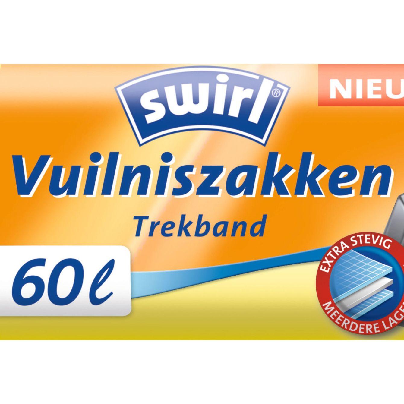 Swirl Vuilniszakken Trekband 60 Liter