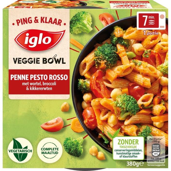 Iglo Ping&Klaar Veggie Bowl Penne Pesto Rosso