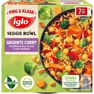 Iglo Ping&Klaar Veggie Bowl Groente Curry