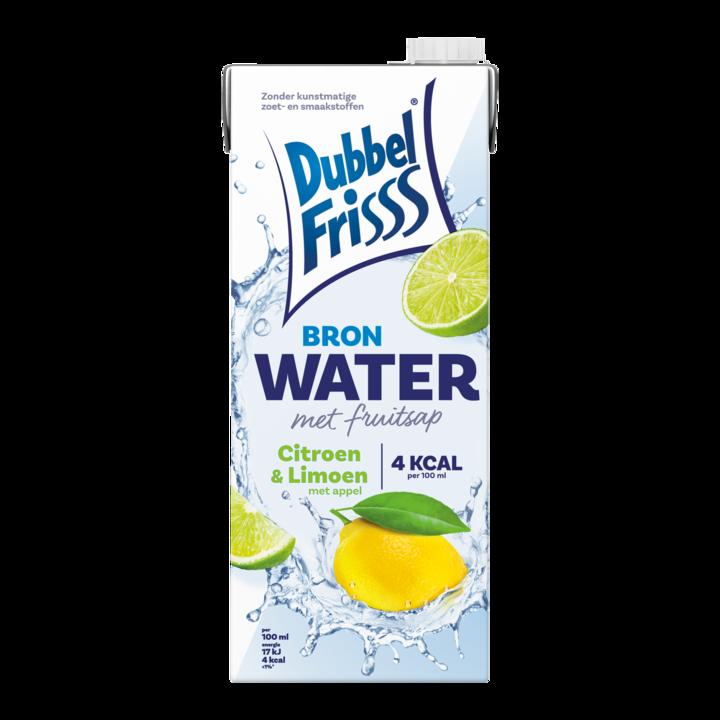 DubbelFrisss Bronwater met Fruitsap Citroen & Limoen met Appel