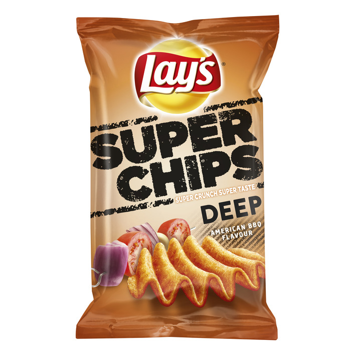 Lay's Superchips deep American bbq
