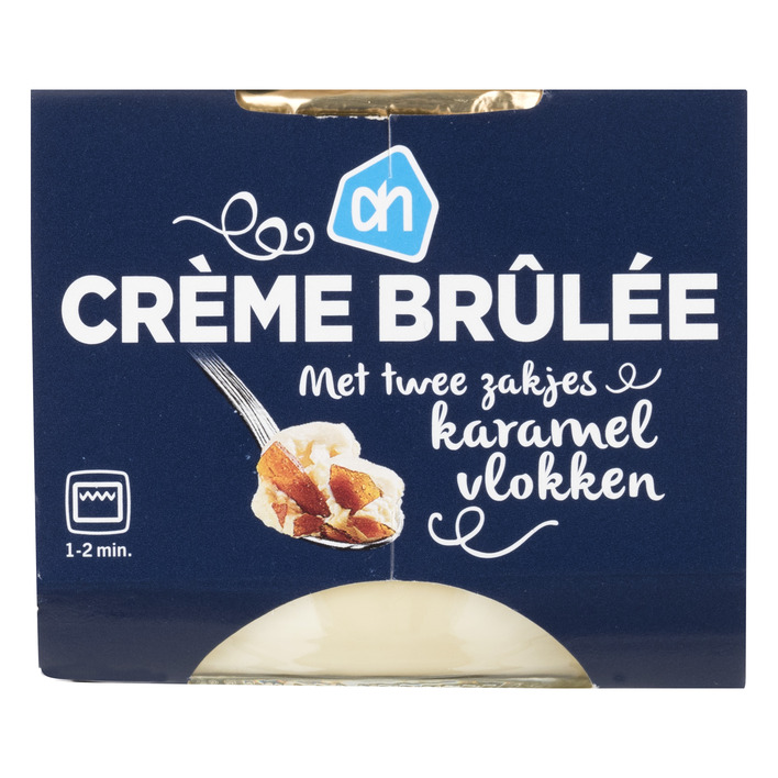 Huismerk Crème brûlée met karamellaagje