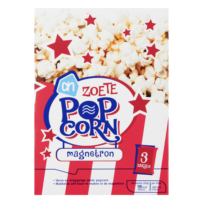 Huismerk Magnetron popcorn zoet