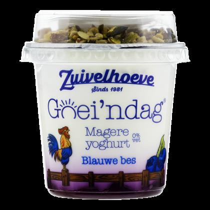 Zuivelhoeve Goei'ndag magere yoghurt blauwe bes