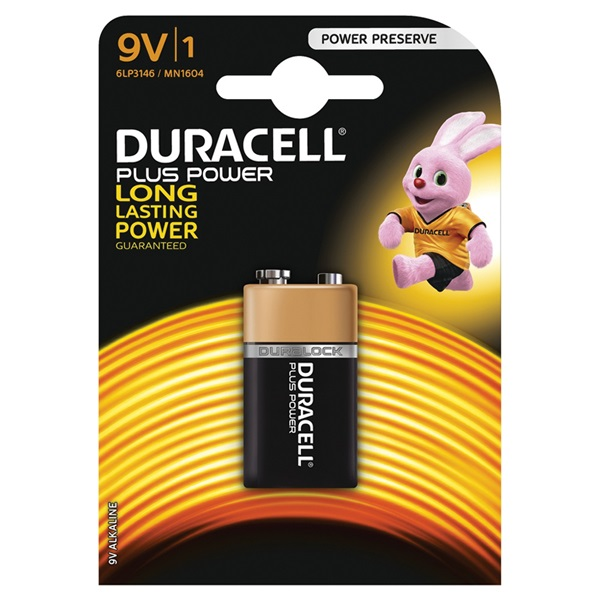 Duracell plus power batterij alkaline 9V