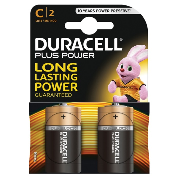 Duracell plus power batterij alkaline C