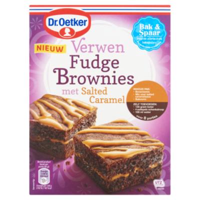 Dr. Oetker Verwen brownies salted caramel