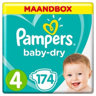 Pampers baby-dry luiers maat 4, 9-14 kg maandbox