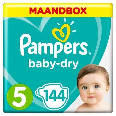 Pampers baby-dry luiers maat 5, 11-16 kg maandbox