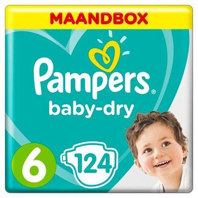 Pampers baby-dry luiers maat 6, 13+ kg maandbox