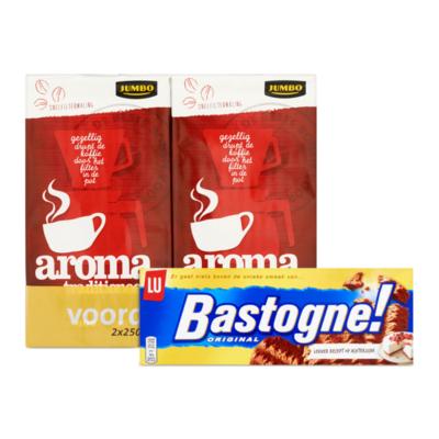 Huismerk Filterkoffie met Bastogne Koeken