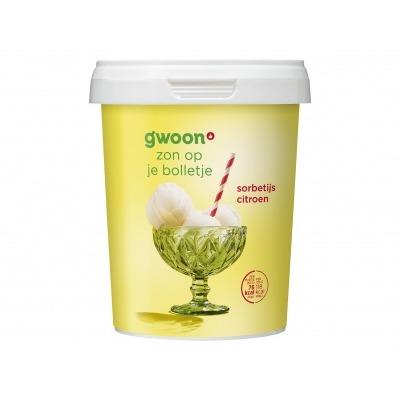 Huismerk Lemon sorbet ijs