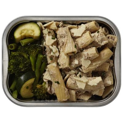 Huismerk Pasta met tonijn en gestoomde groente