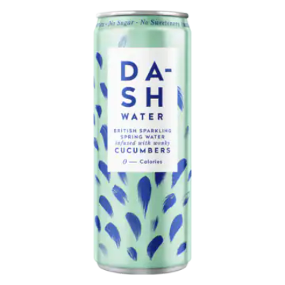 Dash Water British Sparkling Spring Water Infused with Wonky Cucumbers