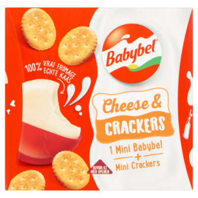 Mini Babybel Snackpack Kaas & Crackers