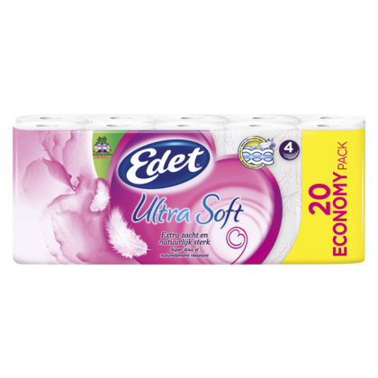 Edet Ultra Soft Toiletpapier 4-lgs 3x20