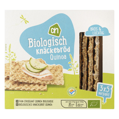 Huismerk Biologisch Knäckebröd quinoa