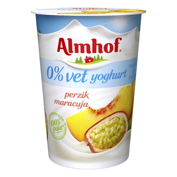 Almhof Yoghurt perzik-maracuja 0% vet