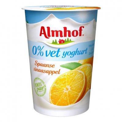 Almhof 0% vet yoghurt Spaanse sinaasappel
