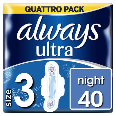Always Ultra night (maat 3) 40 maandverbanden