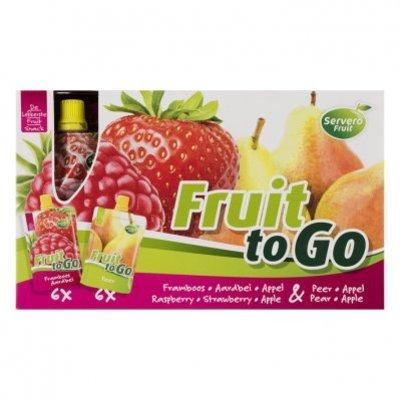 Servero Fruit to go framb-aardbei & appel-peer