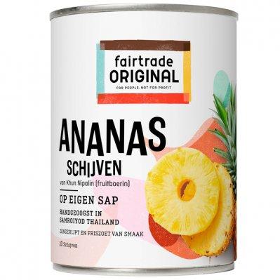 Fairtrade Original Ananasschijven op sap
