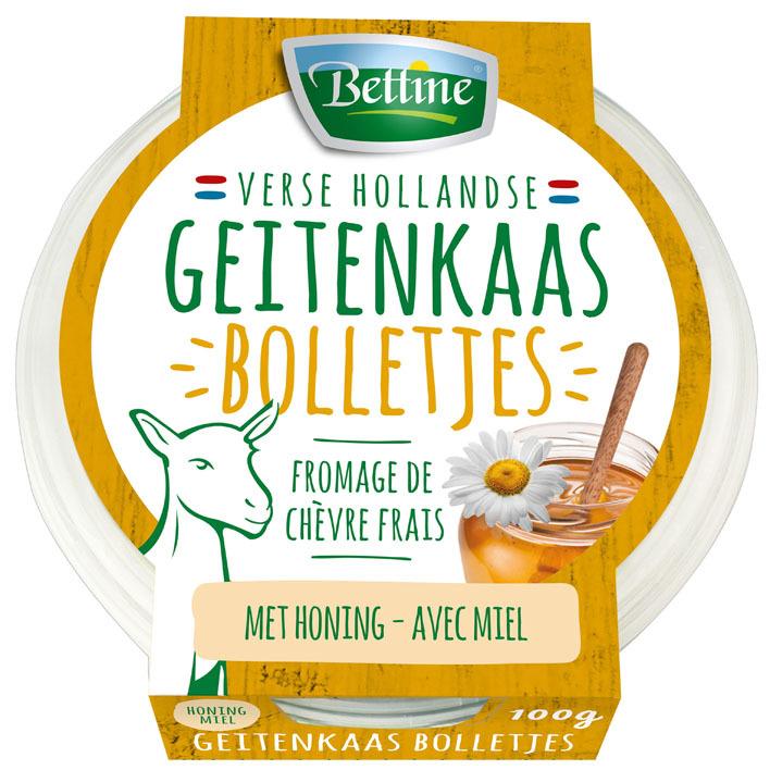Bettine Salade bolletjes geitenkaas honing