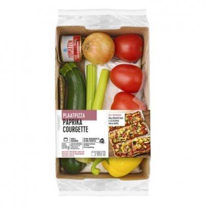 Huismerk Plaatpizza aubergine tomaat verspakket