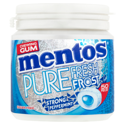 Mentos Chewing Gum Pure Fresh Frost Strong Peppermint Sugar Free 50 Stuks 100 g