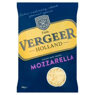 Vergeer Holland Geraspt Mozzarella Kaas 40+ 200 g