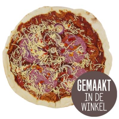 Huismerk Pizza Salami Koud (B)