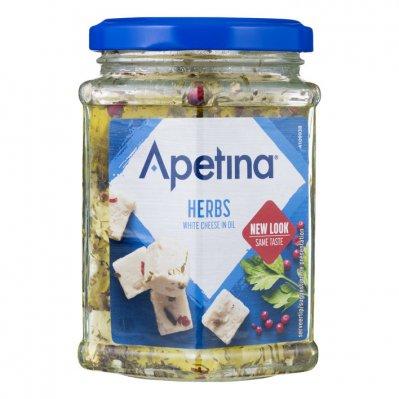 Apetina Witte kaasblokjes 45+ in olie