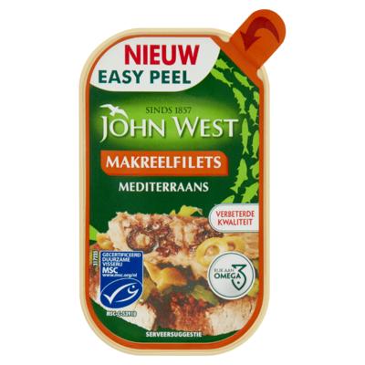 John West MSC Makreelfilets Mediterraans 115 g