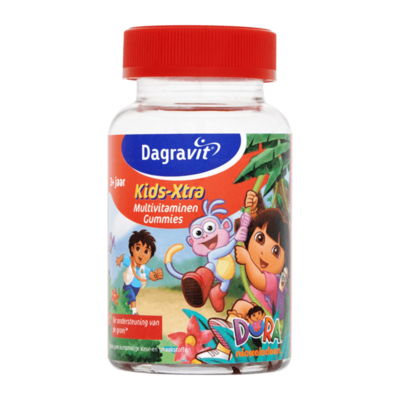Dagravit Kids-Xtra Multivitaminen 3+ Jaar 60 Gummies