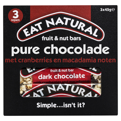 Eat Natural Fruit & nut bars pure chocolade