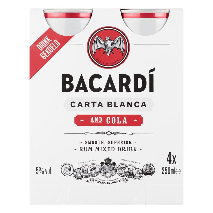 Bacardi & Cola 4 pack