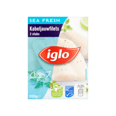 Iglo Sea Fresh Kabeljauwfilet 2 Stuks